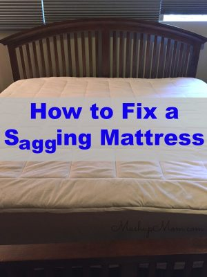How to fix a sagging mattress — on the cheap