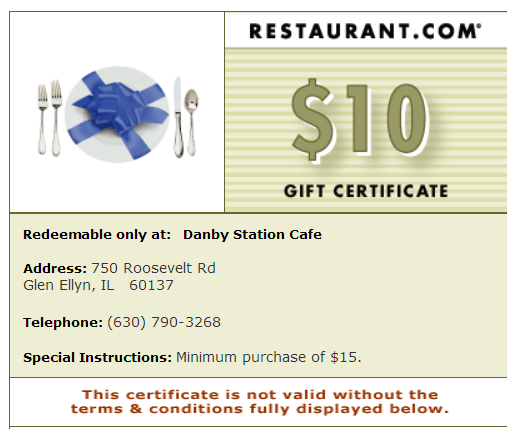Danby\'s Station Cafe -- A Restaurant.com Review