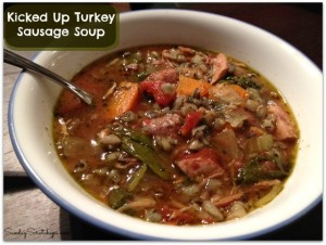 Kicked Up Turkey Sausage Slow Cooker Soup