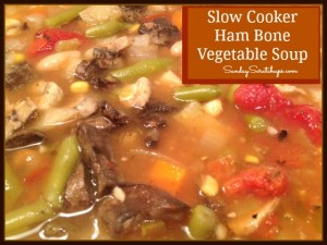 Slow Cooker Ham Bone Vegetable Soup