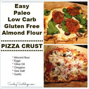 Gluten Free Low Carb Almond Flour Pizza Crust