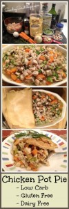 Gluten Free Dairy Free Low Carb Chicken Pot Pie