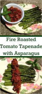 Fire Roasted Tomato Tapenade With Asparagus — an easy tomato recipe