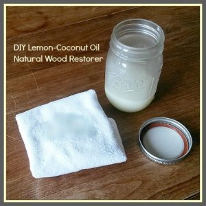 DIY Lemon Coconut Oil Natural Wood Restorer