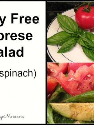 Dairy Free Caprese Salad With Spinach