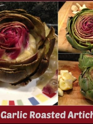 Easy Garlic Roasted Artichokes