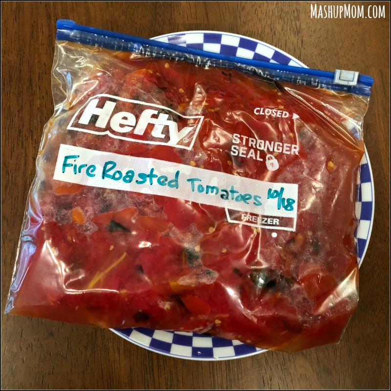 bag of fire roasted tomatoes