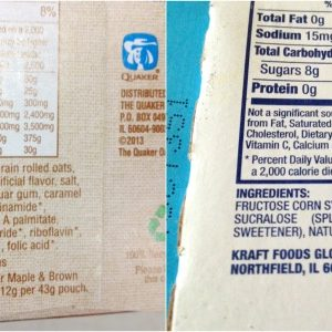More food label fun — Splenda is in everything too