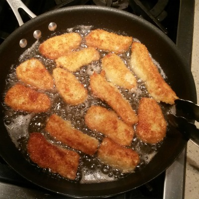 frying second side