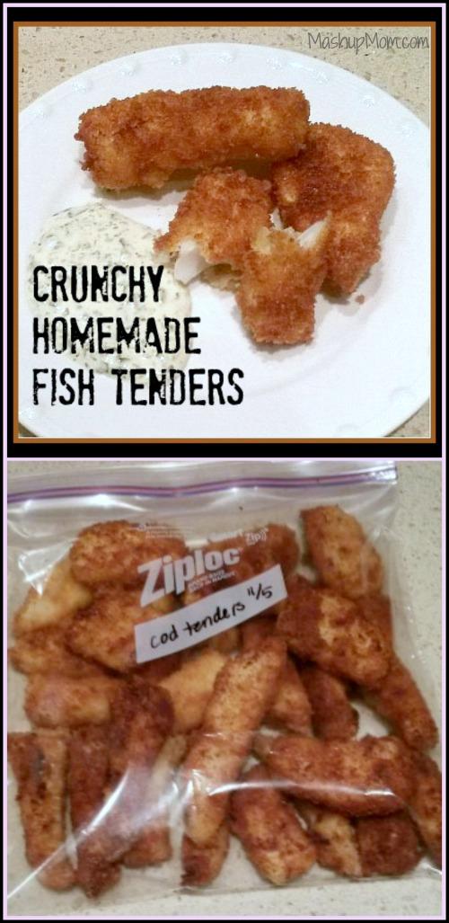 Crunchy homemade fish tenders way better than frozen fish for Frozen fish sticks