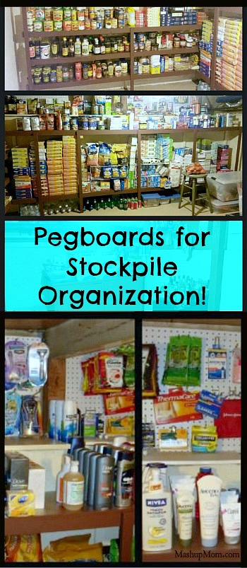 pegboards for stockpile organization