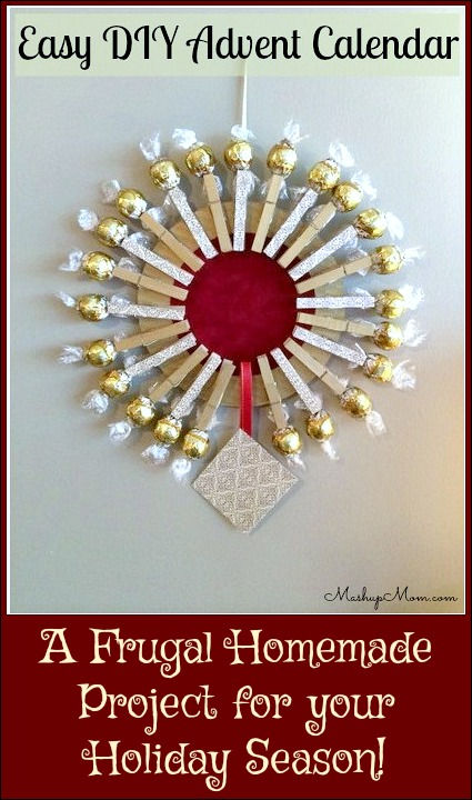 Easy DIY Advent Calendar -- A Frugal Homemade Project for your holiday season!