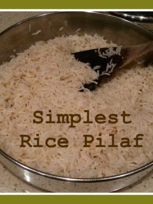 Simplest Rice Pilaf