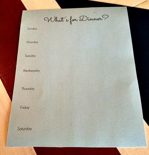 MUM Dry Erase Board Menu Paper 1