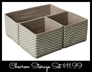 A Chevron Basket Set