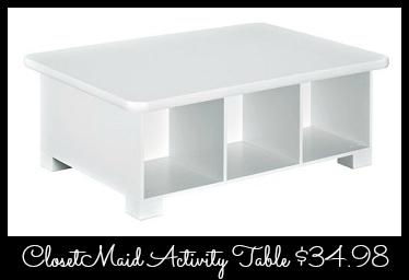 A Closetmaid Table