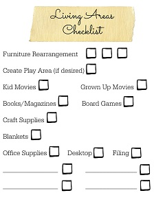 Six Weeks to a More Organized Home Living Area Checklist Resized