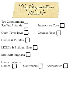 Six Weeks to a More Organized Home Toy Checklist Resized