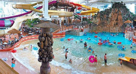 The water park is the main draw, and the Great Wolf Williamsburg offers a generous 55,square-foot year-round facility it calls Bear Track Landing.