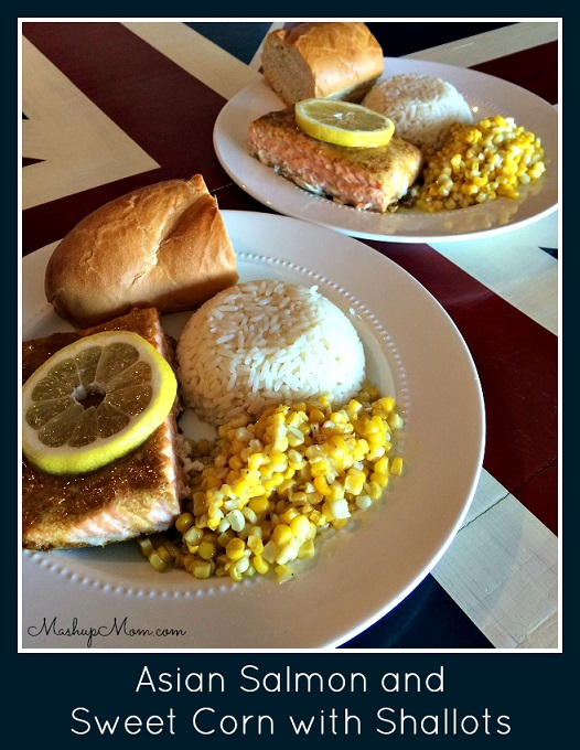 Asian Salmon and Corn