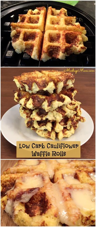Rollos Essen low carb cauliflower waffle rolls