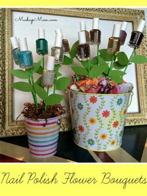 Easy DIY Nail Polish Flower Bouquet — Cute Easter Basket idea!