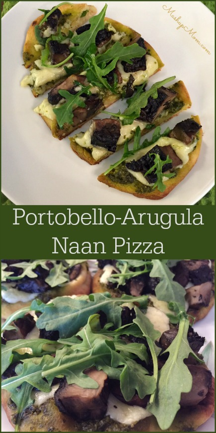 portobello-arugula-naan-pizza