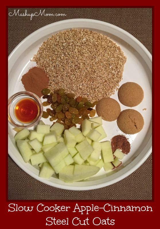 ... make ahead breakfast apple cinnamon oatmeal made with steel cut oats