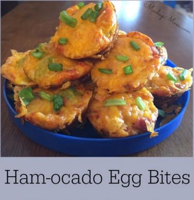 ham and avocado egg bites