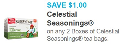 Tops Coupon Deal: Celestial Seasonings Tea Only $1.00