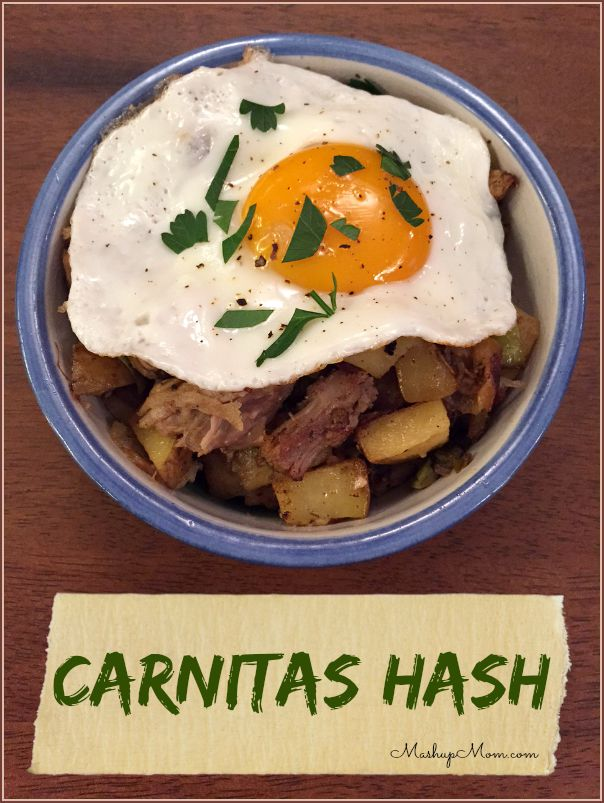 Carnitas hash a leftovers mashup scratchup mashup mom