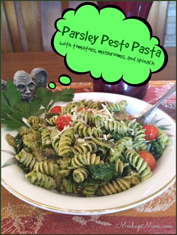 peeking-at-plated-parsley-pesto-pasta