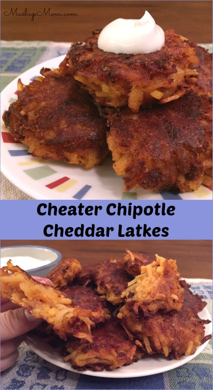 chipotle cheddar latkes