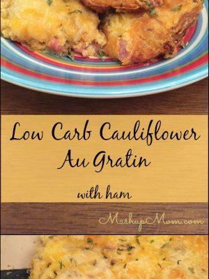 Low Carb Cauliflower Au Gratin with ham