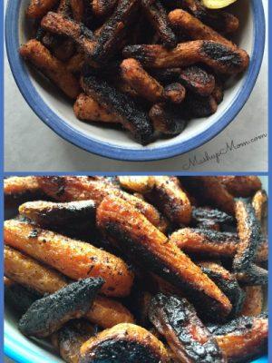Charred Roasted Harissa Carrots
