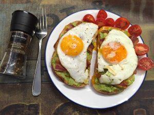 plated-egg-avocado-toast