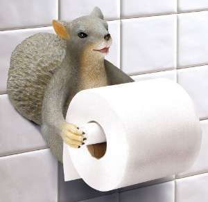 A Gift For The Person Who Has Everything Because Nothing Cles Up Your Bathroom Quite Like Squirrel Toilet Paper Holder Featured Product In