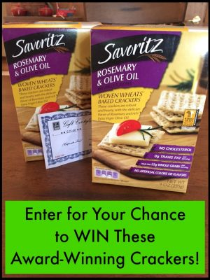 ALDI Giveaway — Savoritz Rosemary & Olive Oil Woven Wheats Baked Crackers + gift certificate!