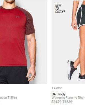 Under Armour end of season outlet sale + free shipping!