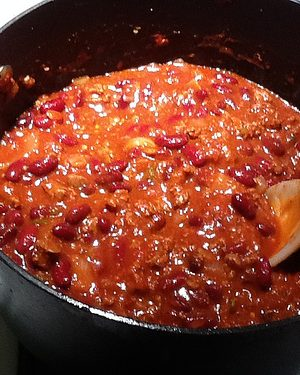 Allergies and Atkins chili