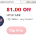 RARE $1.00/1 gallon white milk coupon = net free at CVS