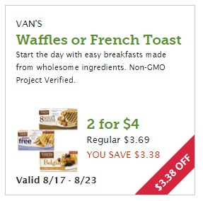 Better than net free Van's waffles at Whole Foods
