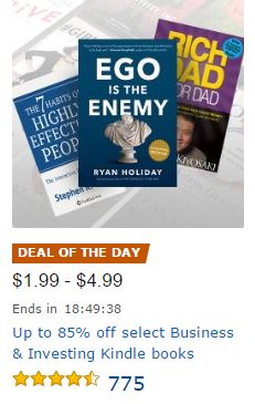 Great savings on Kindle business and investing books today!