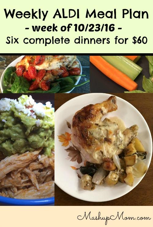 weekly ALDI meal plan week of 10/23/16