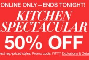 Half off Kitchen Items at Macy's — Today only, online only!