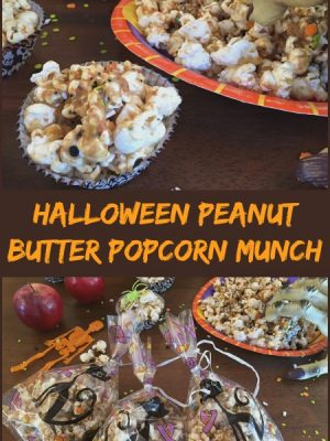 Halloween Peanut Butter Popcorn Munch — Plus ALDI giveaway!