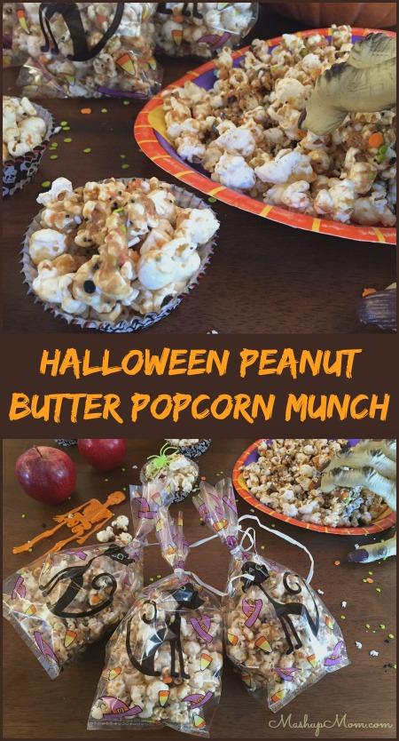 halloween peanut butter popcorn munch