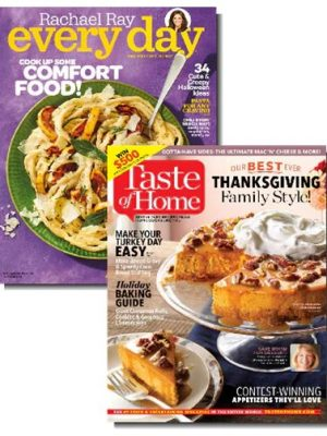 Rachael Ray AND Taste of Home for $8.99