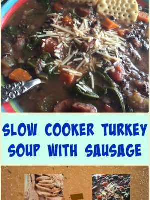 Slow Cooker Turkey Soup with Sausage