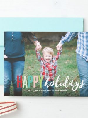 Create your last minute holiday cards with 30% off at Basic Invite!